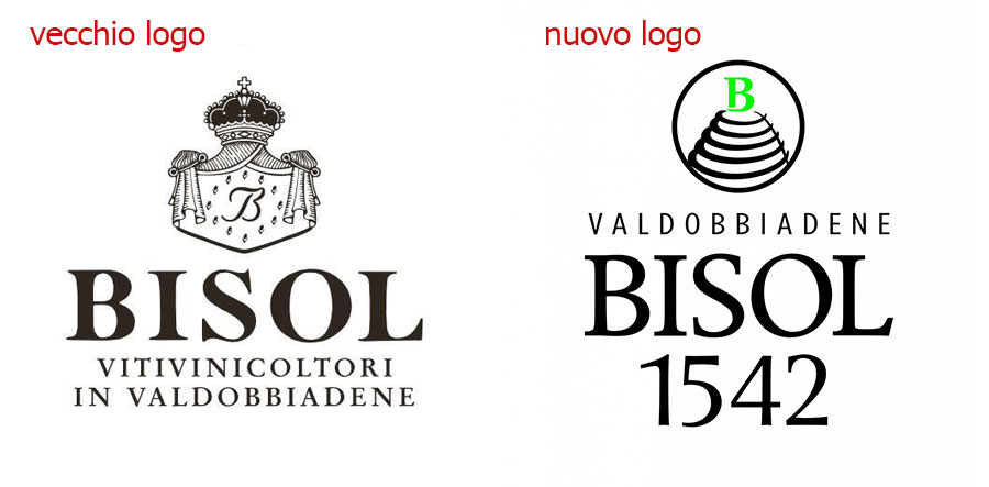nuovo e vecchio logo di Bisol