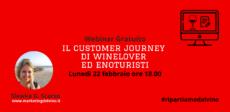 copertina del webinar Il customer journey di winelover ed enoturisti